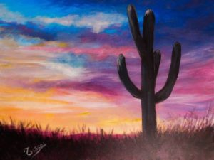 Saguaro Sunset - Tiscar Valles